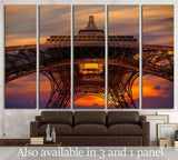Eiffel tower, Paris, France №1188 Ready to Hang Canvas Print