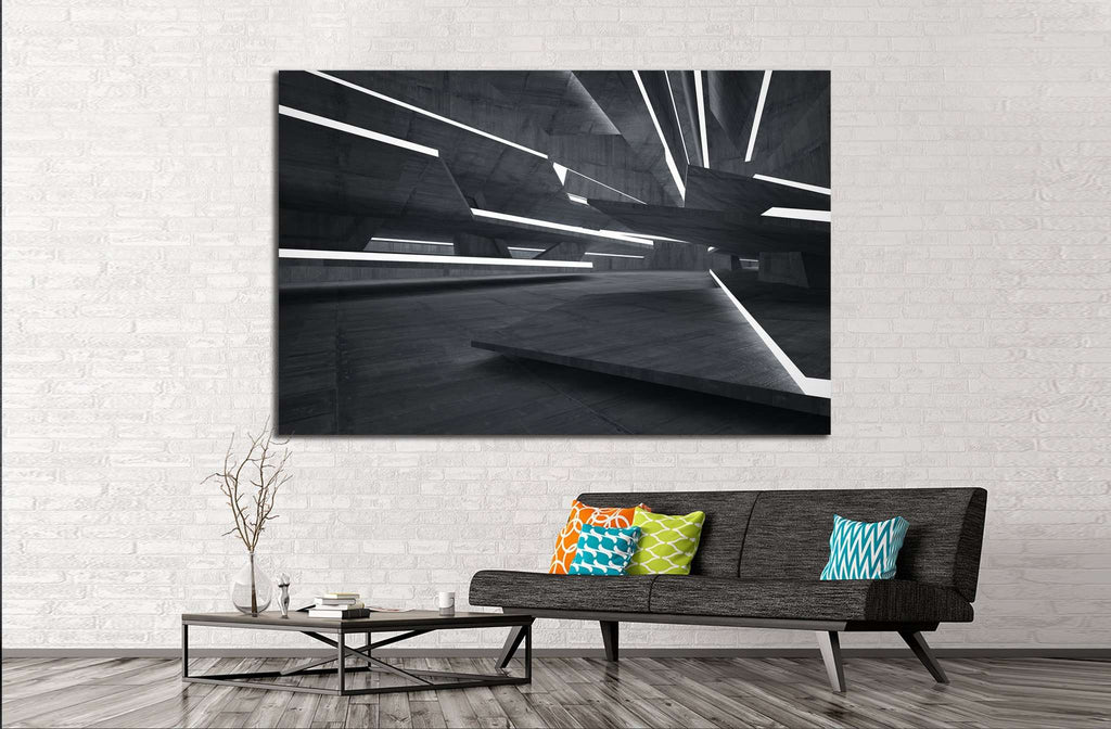 Empty dark abstract №1075 Ready to Hang Canvas Print
