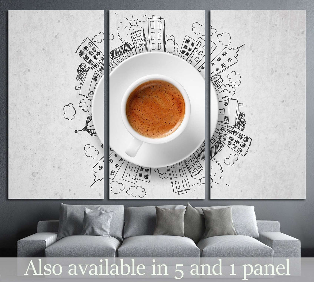 Espresso №1920 Ready to Hang Canvas Print