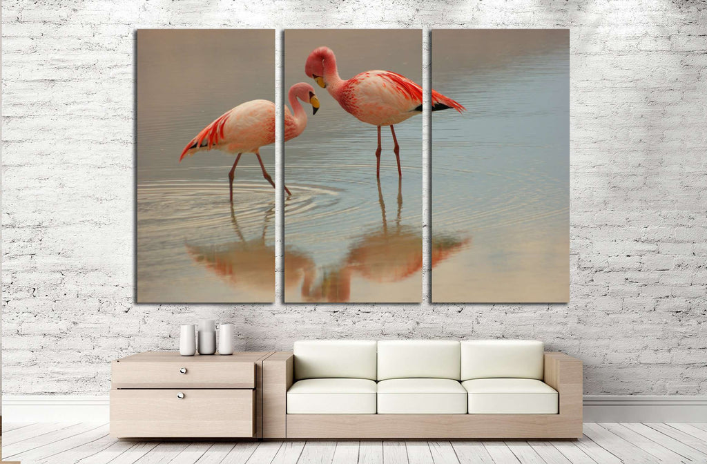 evening flamingo №2334 Ready to Hang Canvas Print