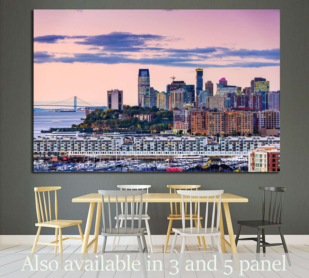 Exchange Place, Jersey City, New Jersey skyline №1739 Ready to Hang Canvas Print