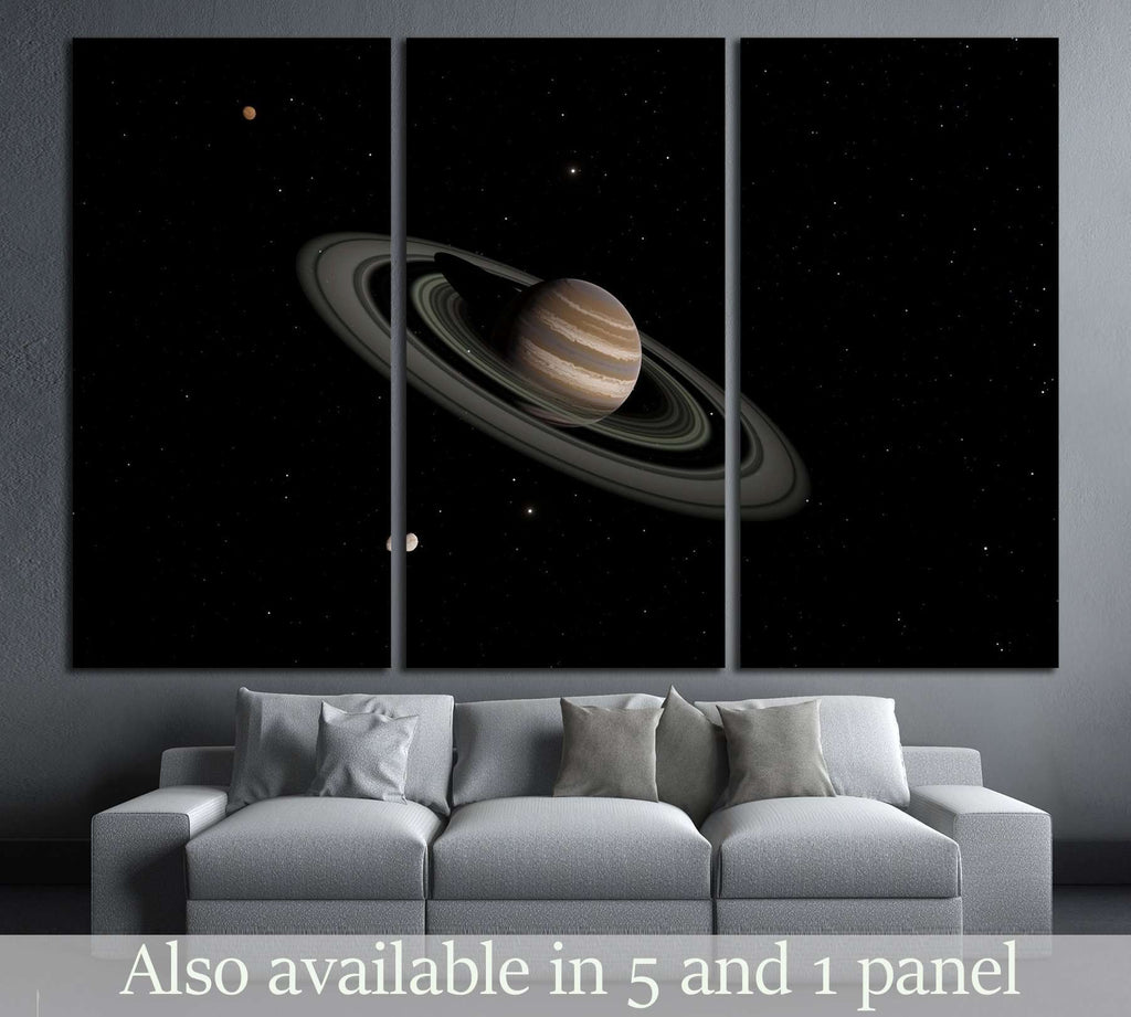Exoplanet with rings gas giant Saturn planet №2420 Ready to Hang Canvas Print