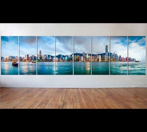 Extra Large panorama Hong Kong, China №51 Ready to Hang Canvas Print