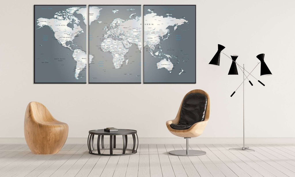 Extra large world map 883 ready to hang canvas print canvas print extra large world map 883 ready to hang canvas print gumiabroncs Gallery
