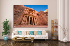 facade in Petra Jordan №858 Canvas Print