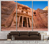 facade in Petra Jordan №858 Ready to Hang Canvas Print