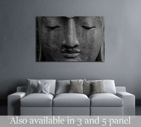 Face Buddha head №3242 Ready to Hang Canvas Print