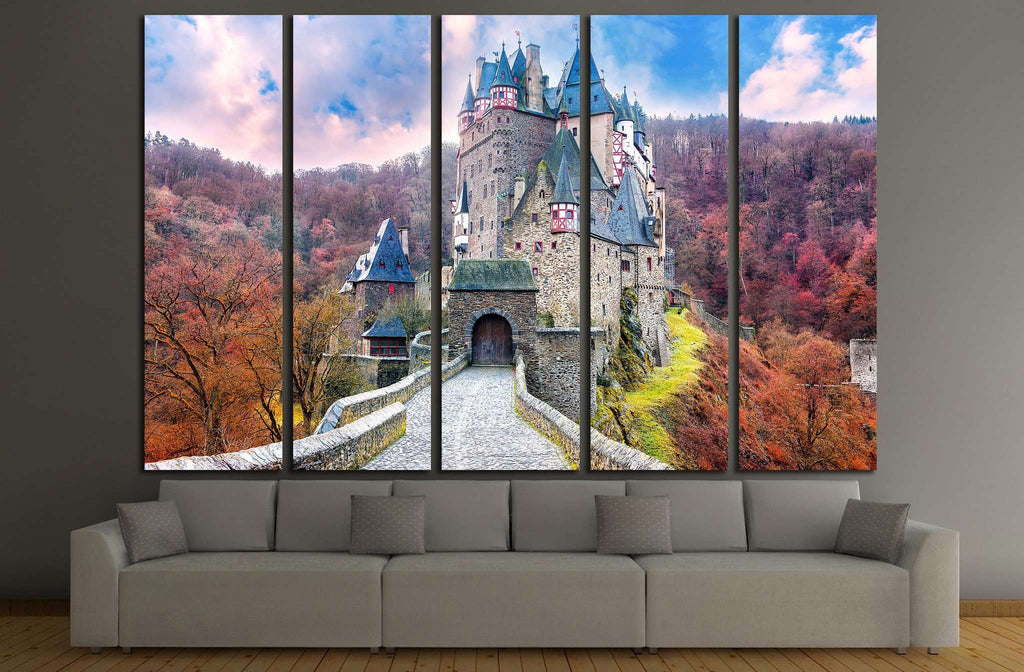 Fairytale castle scenery №1807 Ready to Hang Canvas Print