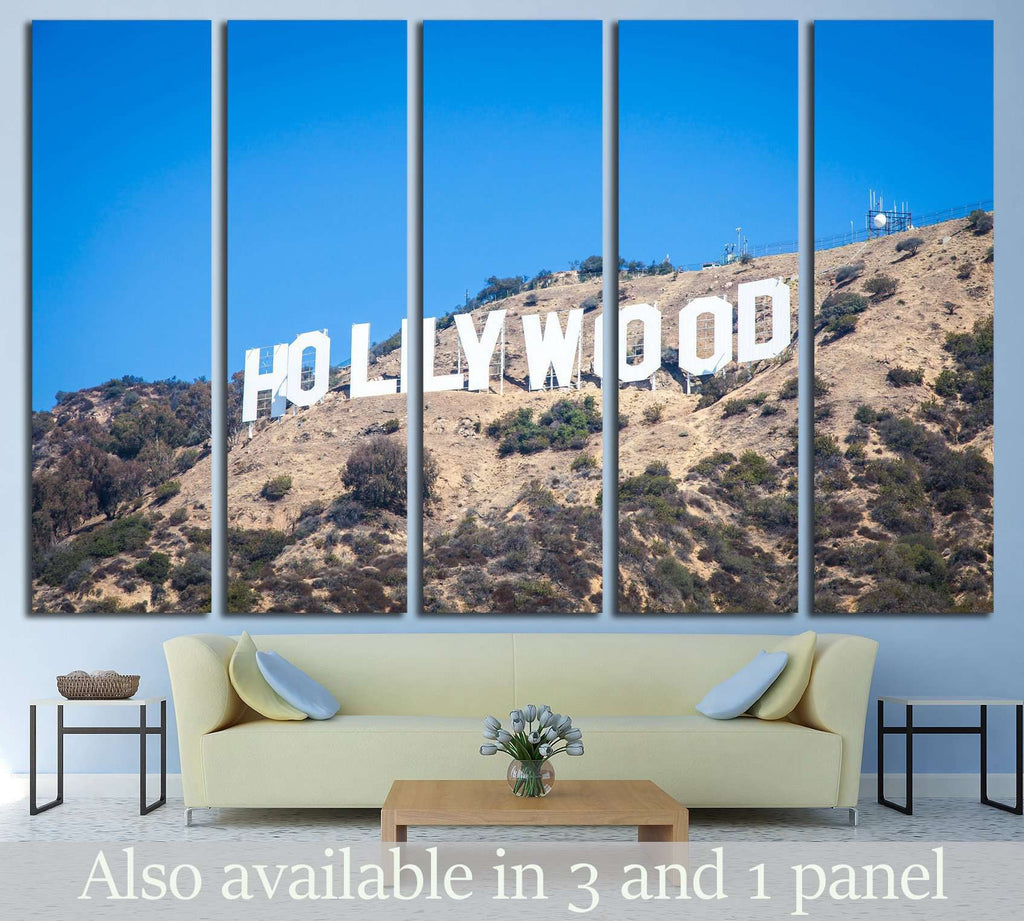 Famous Hollywood landmark in Los Angeles, California №1940 Ready to Hang Canvas Print