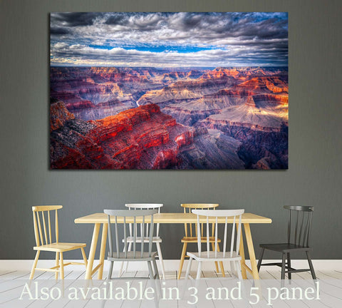 famous view of Grand Canyon , Arizona, USA №1984 Ready to Hang Canvas Print