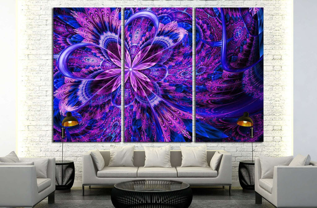 fantasy artistic flower with lighting effect №1420 Ready to Hang Canvas Print