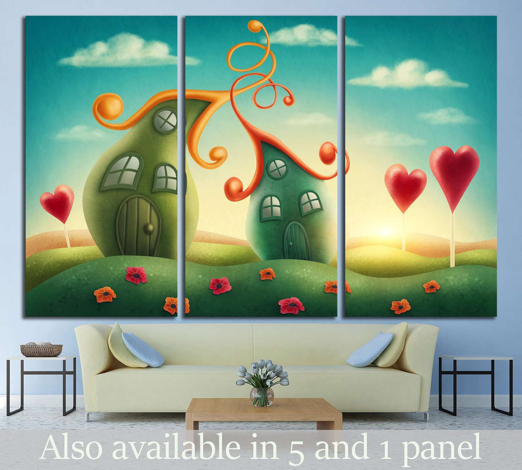 Fantasy houses №710 Ready to Hang Canvas Print