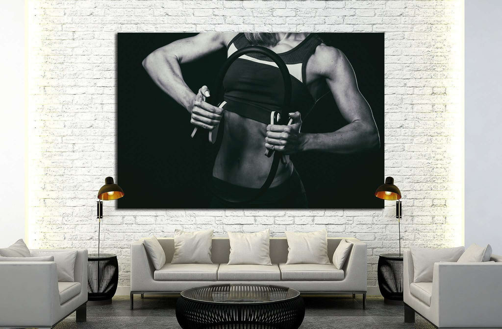 Female fitness №1387 Ready to Hang Canvas Print