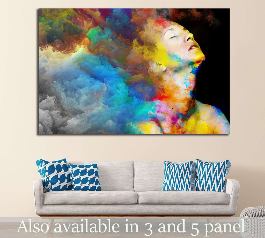 Female portrait №1065 Ready to Hang Canvas Print