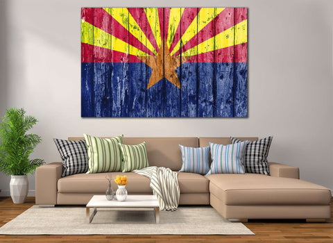 Flag of Arizona №834 Ready to Hang Canvas Print