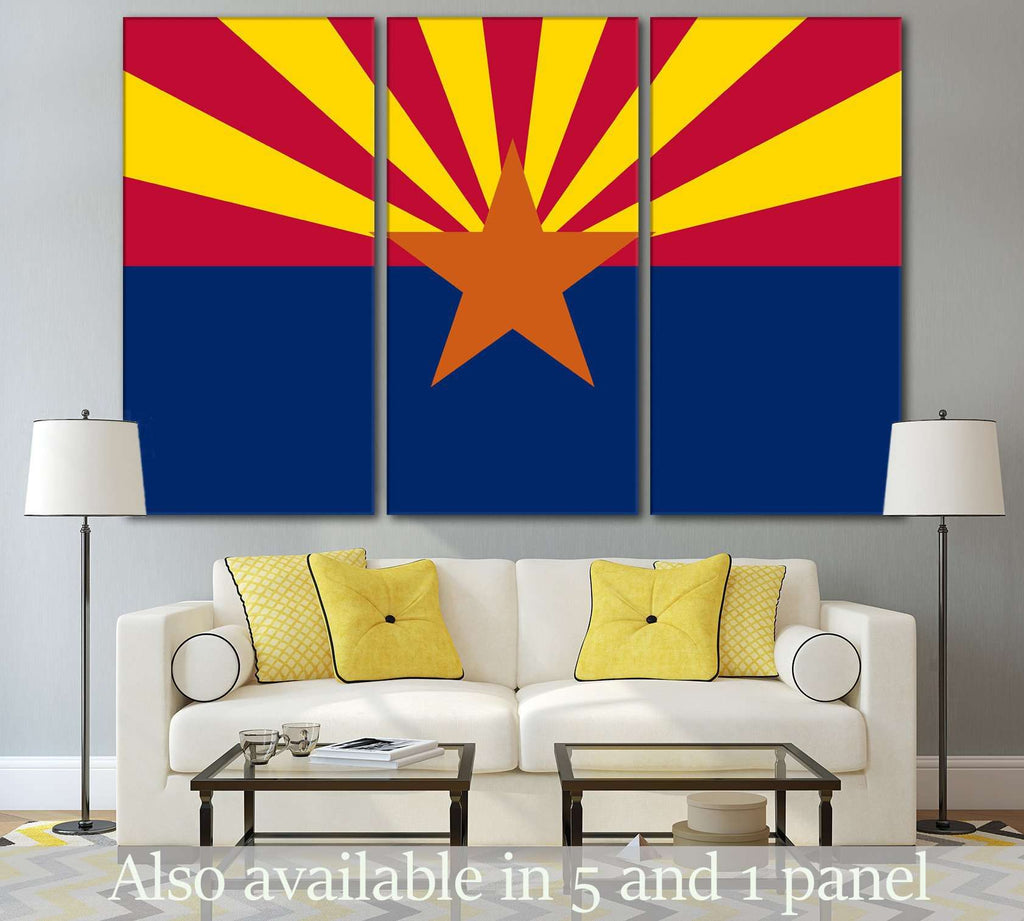 Flag of Arizona №833 Ready to Hang Canvas Print