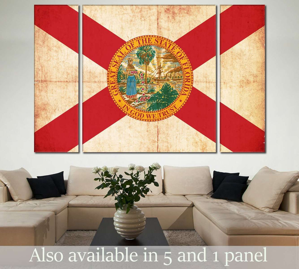 Flag of Florida №836 Ready to Hang Canvas Print