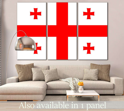 Flag of Georgia №822 Ready to Hang Canvas Print