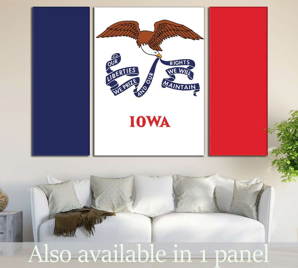 Flag of Lowa State №831 Ready to Hang Canvas Print