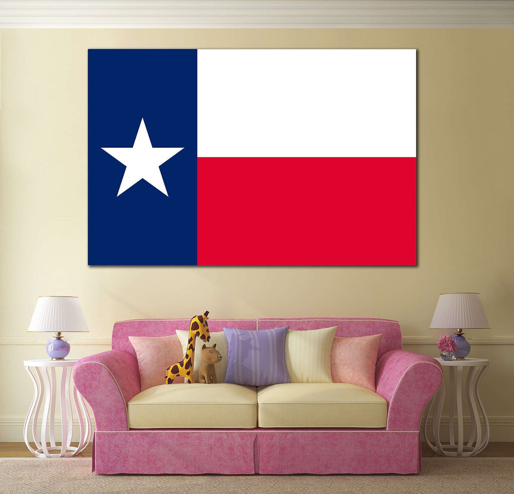 Flag of Texas №824 Ready to Hang Canvas Print