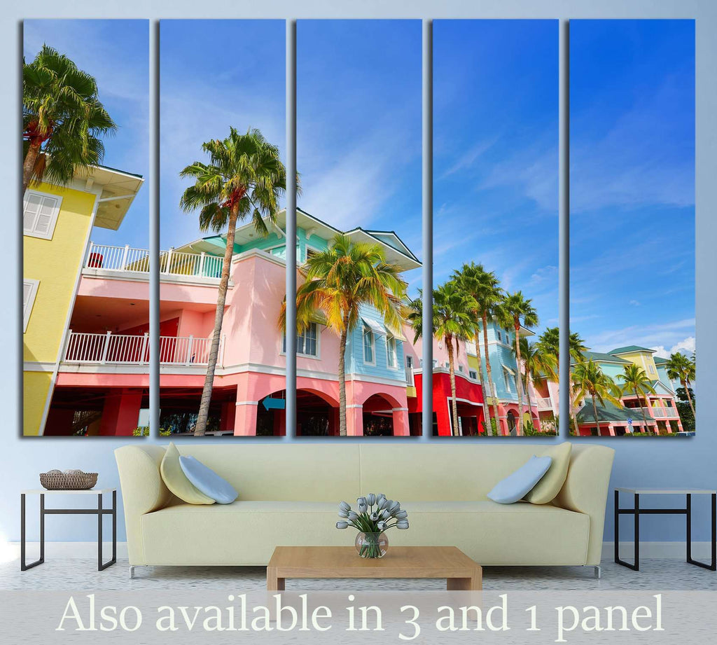 Florida Fort Myers and palm trees in USA №1229 Ready to Hang Canvas Print