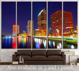 Florida Tampa skyline at sunset from Hillsborough river in US №1725 Ready to Hang Canvas Print