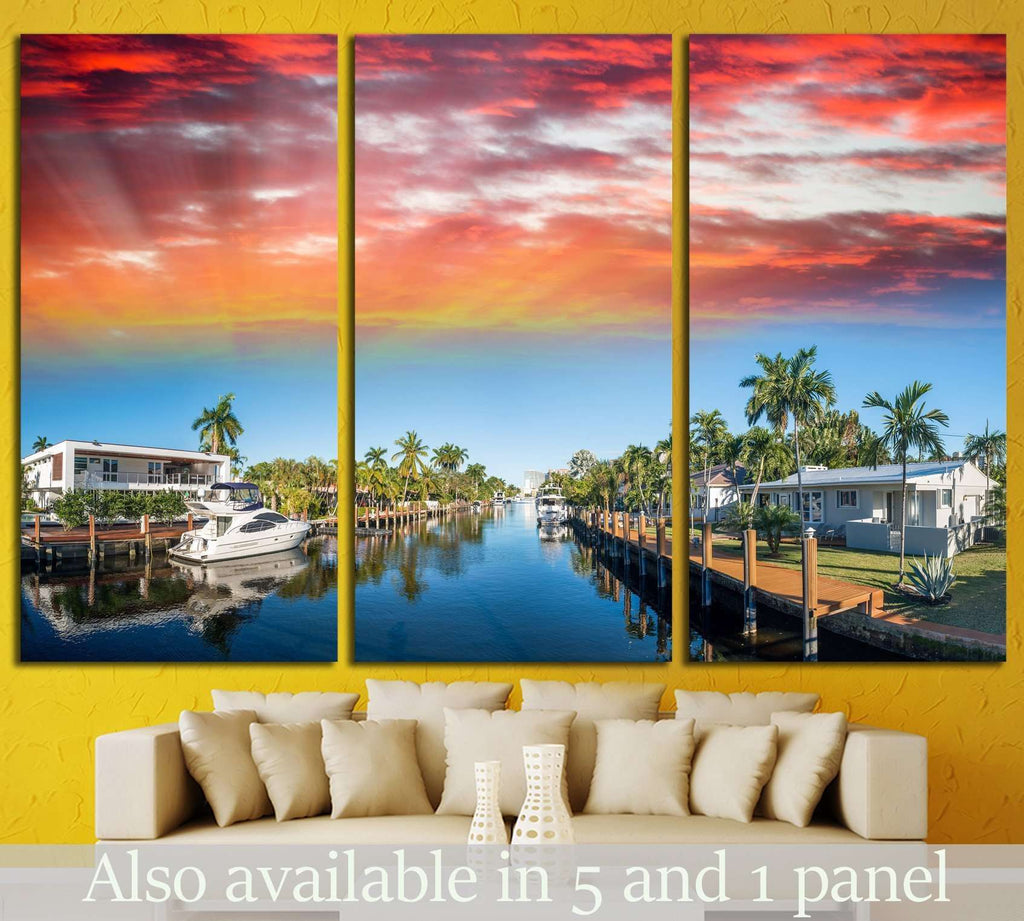 Fort Lauderdale, Florida №1226 Ready to Hang Canvas Print