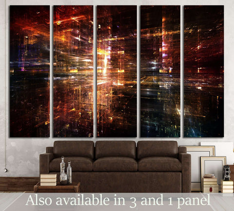 Fractal City series №3225 Ready to Hang Canvas Print