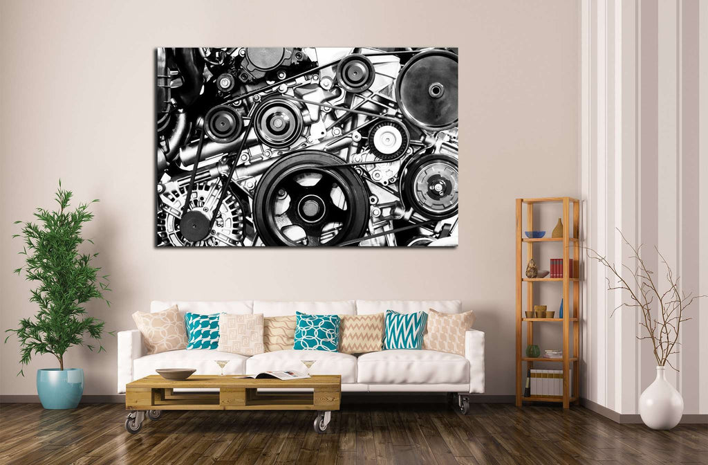 Fragment of Engine №138 Ready to Hang Canvas Print