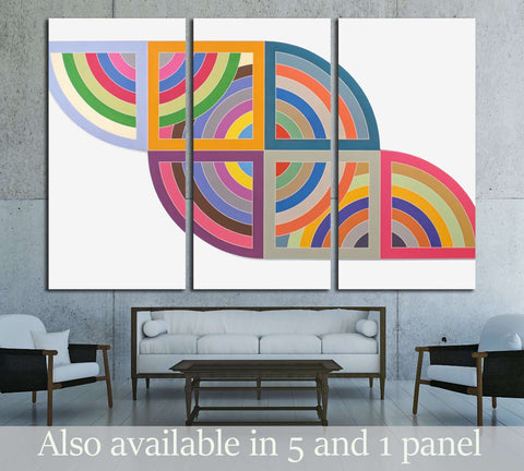 Frank Stella №3290 Ready to Hang Canvas Print