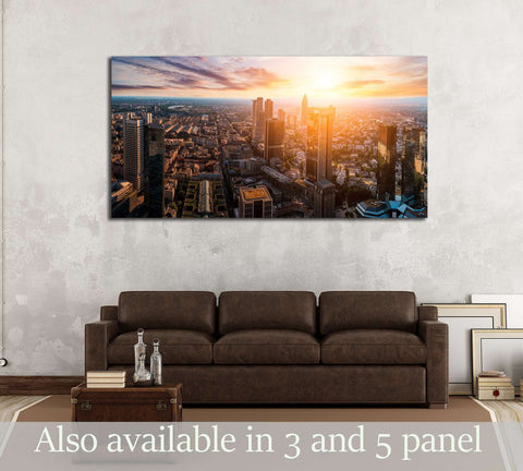 Frankfurt skyline №2980 Ready to Hang Canvas Print