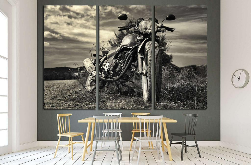 Freedom.Motorbike under sky №1868 Ready to Hang Canvas Print