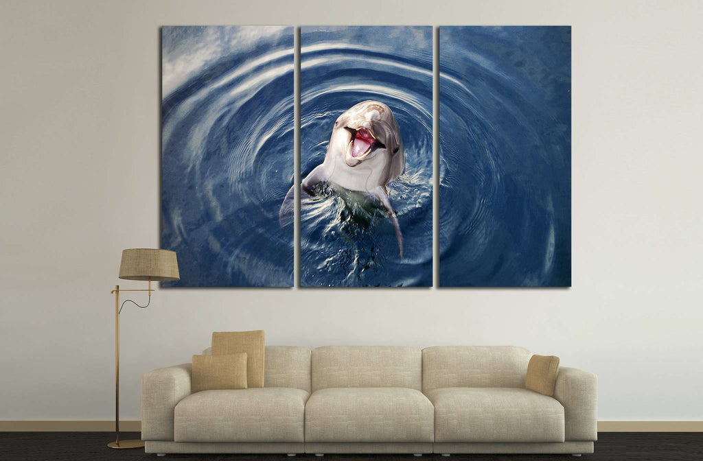Funny Dolphin №509 Ready to Hang Canvas Print