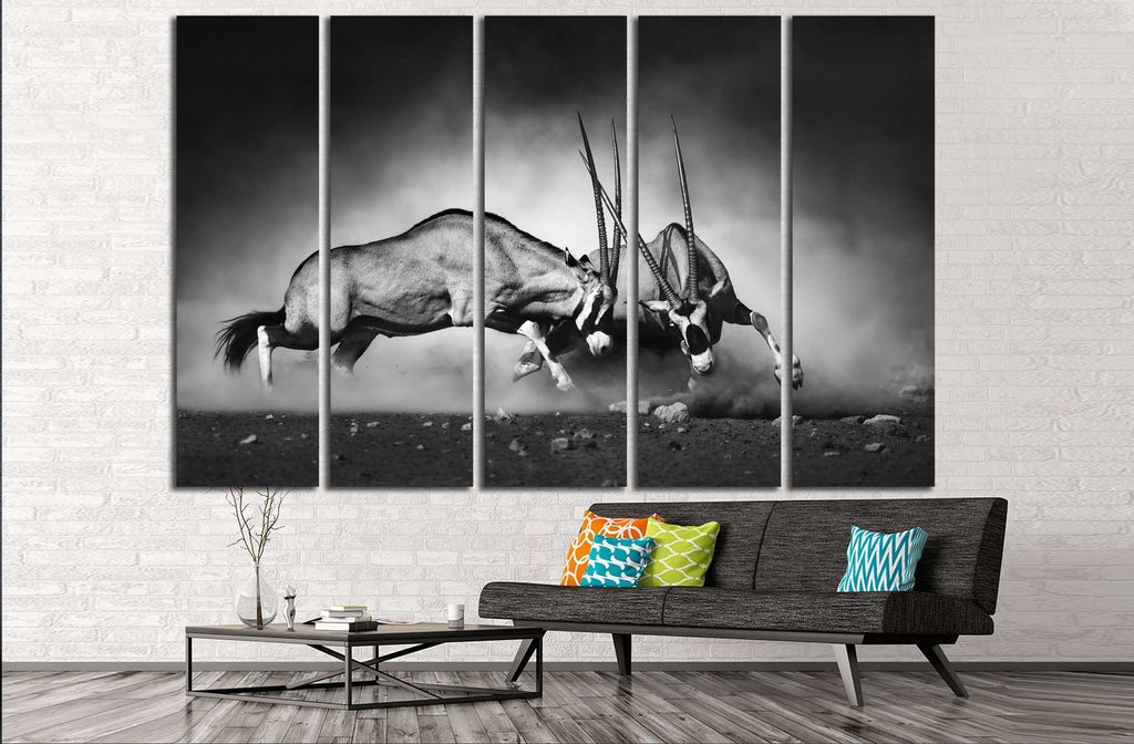 Gemsbok dual №743 Ready to Hang Canvas Print