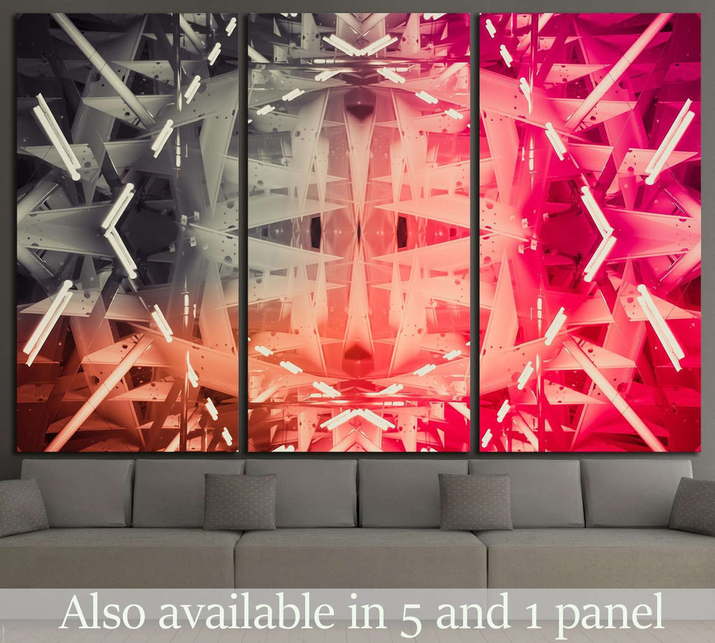geometric abstract №1055 Ready to Hang Canvas Print
