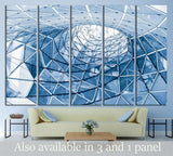 geometric glass facade №1592 Ready to Hang Canvas Print
