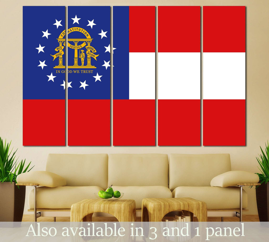 Georgia State Flag №837 Ready to Hang Canvas Print
