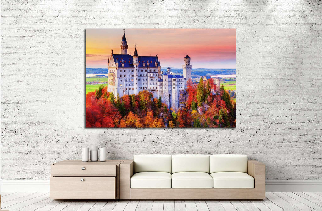 Germany, Neuschwanstein Castle №1804 Ready to Hang Canvas Print