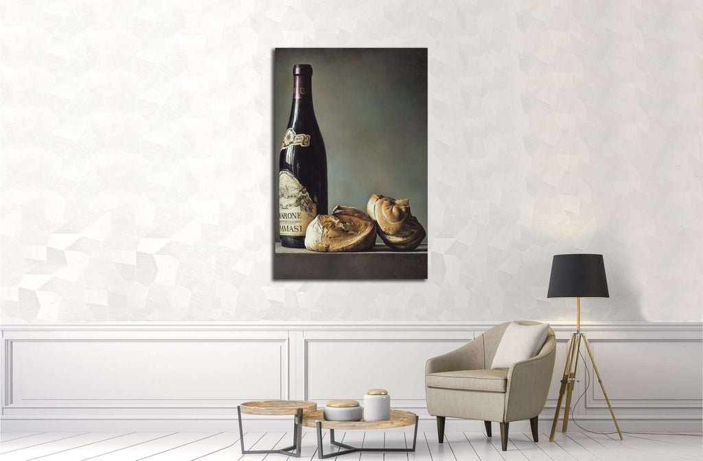 Gianluca Corona, Bread and wine №3413 Ready to Hang Canvas Print