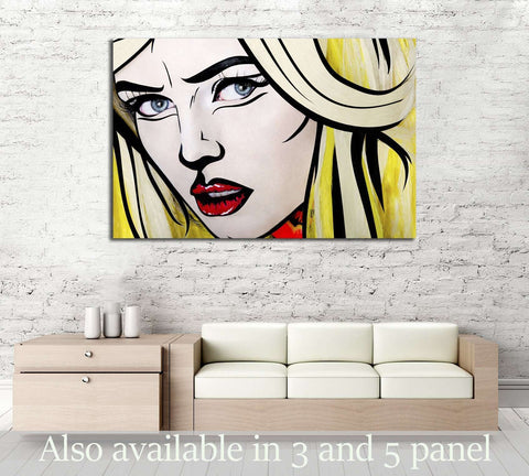 Girl Pop Art №3303 Ready to Hang Canvas Print