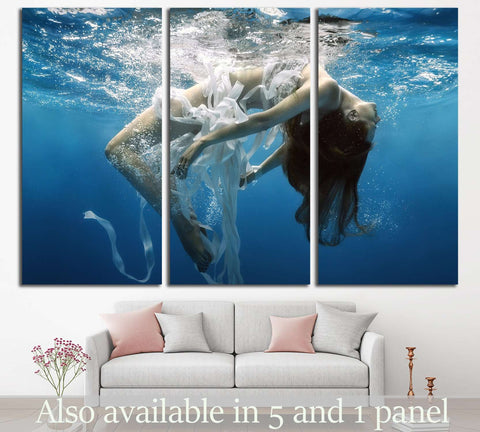 Girl Underwater №512 Ready to Hang Canvas Print