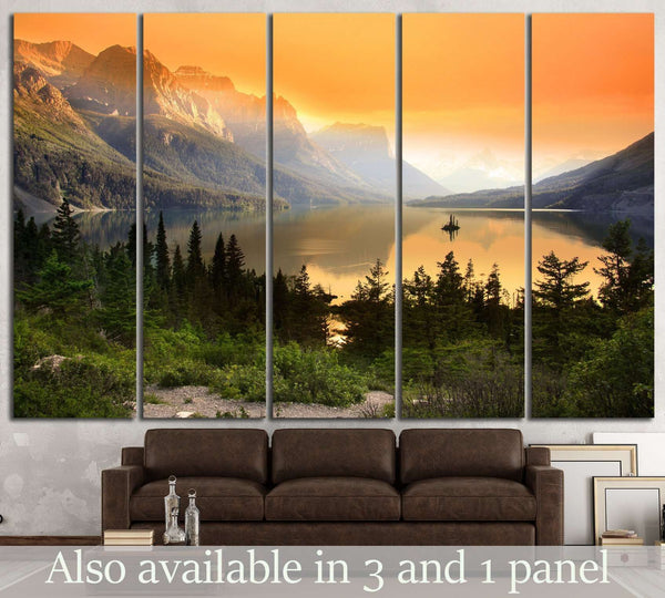 Glacier national park №647 Ready to Hang Canvas Print