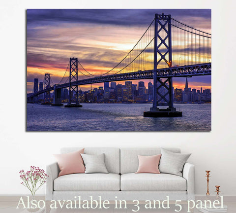 Golden Gate Bridge №1110 Ready to Hang Canvas Print