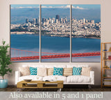 Golden Gate Bridge, San Francisco Peninsula to Marin County,California №1248 Ready to Hang Canvas Print