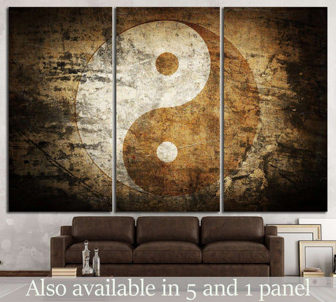 Grunge yin yang №745 Ready to Hang Canvas Print