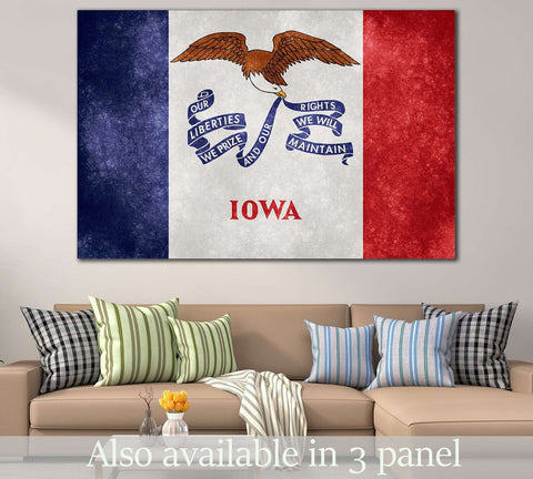 Grungy Flag of Lowa №832 Canvas Print