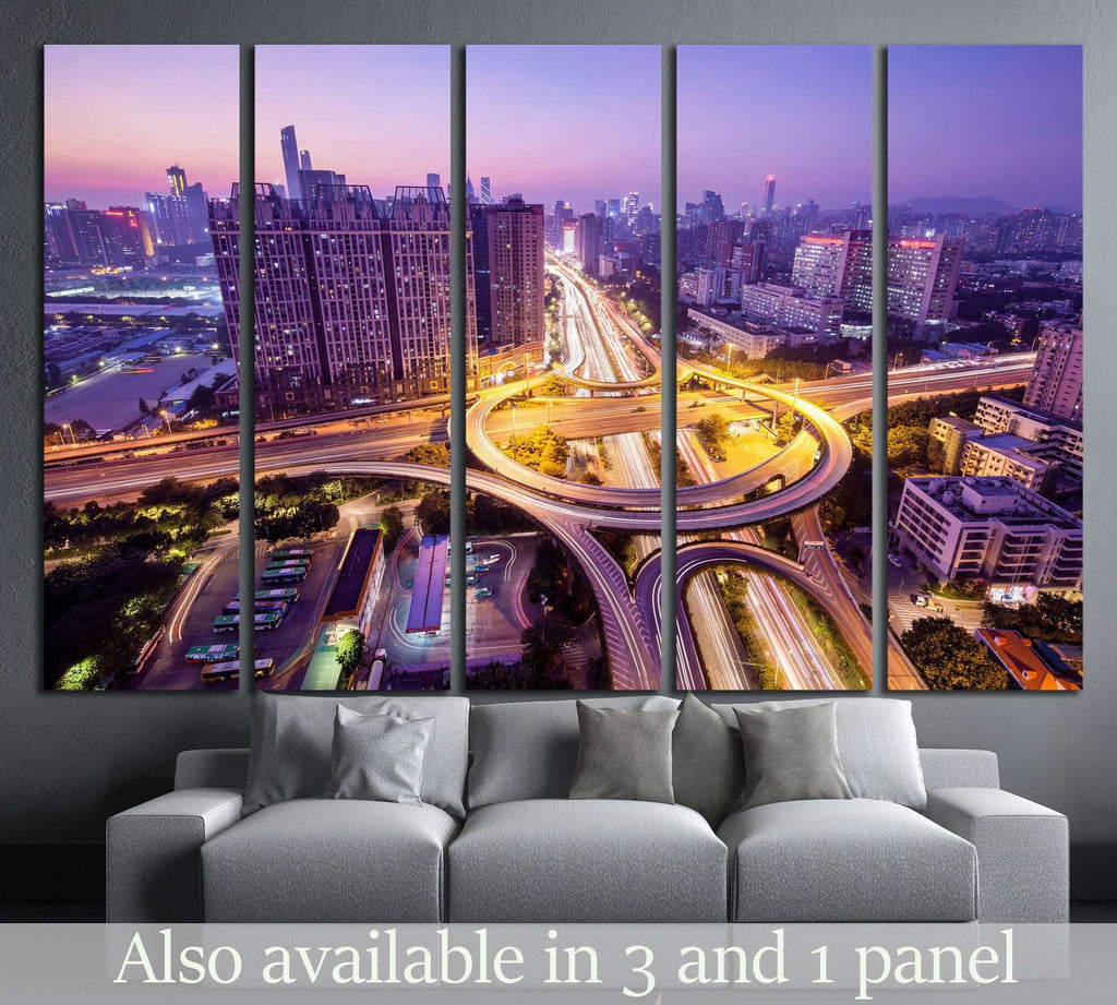 Guangzhou at night №1250 Ready to Hang Canvas Print
