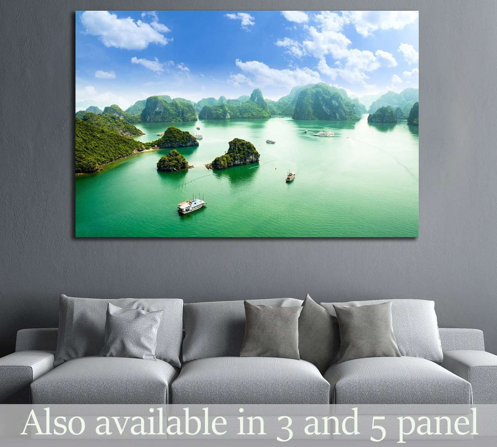 HALONG bay in vietnam, TiTop island №1905 Ready to Hang Canvas Print