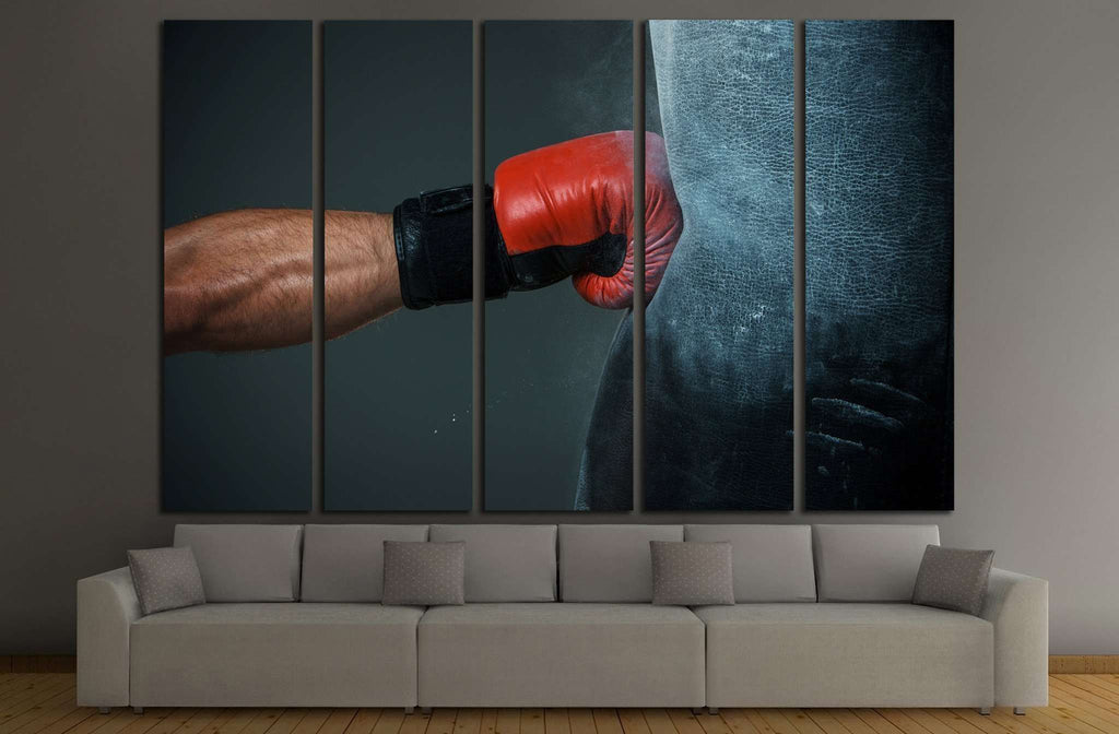 Hand of boxer and punching bag №1375 Ready to Hang Canvas Print
