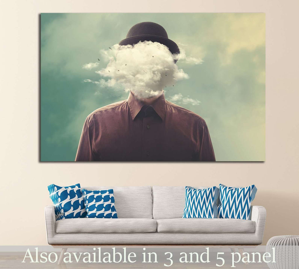 head in the clouds №1087 Ready to Hang Canvas Print
